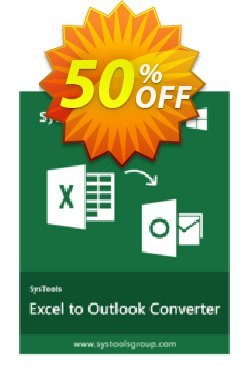 Excel to Outlook - Personal License Coupon, discount SysTools coupon 36906. Promotion:
