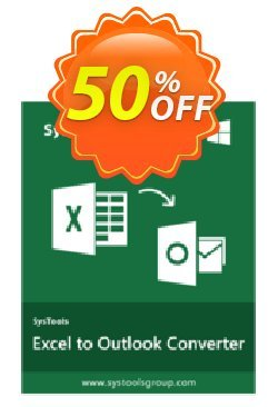 Excel to Outlook - Business License Coupon, discount SysTools coupon 36906. Promotion: