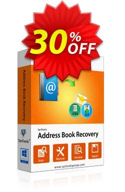 Address Book Recovery - Personal License Coupon, discount SysTools coupon 36906. Promotion: