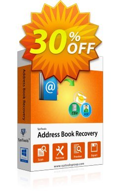 SysTools Address Book Recovery - Business  Coupon discount SysTools coupon 36906. Promotion: