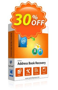 Address Book Recovery - Enterprise License Coupon, discount SysTools coupon 36906. Promotion: