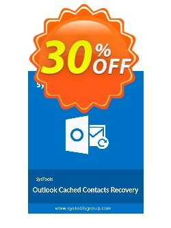 SysTools Outlook Cached Contacts Recovery Coupon discount SysTools Summer Sale -