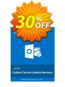 Outlook Cached Contacts Recovery - Personal License Coupon, discount SysTools coupon 36906. Promotion: