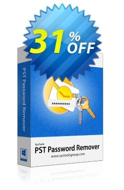 SysTools PST Password Remover Coupon discount SysTools Summer Sale. Promotion: impressive sales code of SysTools PST Password Remover 2020