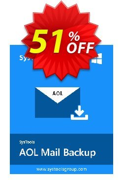 SysTools AOL Backup Coupon discount SysTools Summer Sale. Promotion: special offer code of SysTools AOL Backup 2020