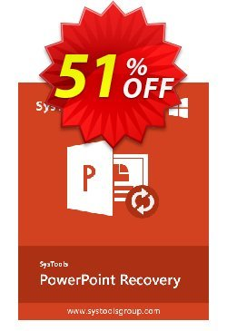 SysTools PowerPoint Recovery Coupon, discount SysTools Summer Sale. Promotion: exclusive promo code of SysTools PowerPoint Recovery 2021