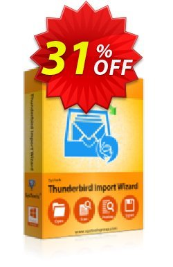 SysTools Thunderbird Import Wizard Coupon, discount SysTools Summer Sale. Promotion: wonderful discounts code of SysTools Thunderbird Import Wizard 2020