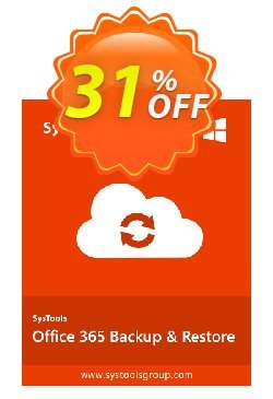 SysTools Office365 Backup & Restore Coupon discount SysTools Summer Sale - impressive discount code of SysTools Office365 Backup & Restore 2019