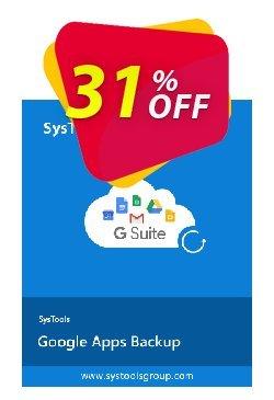 SysTools Google Apps Backup Coupon discount SysTools Google Apps Backup wonderful offer code 2020. Promotion: wonderful offer code of SysTools Google Apps Backup 2020