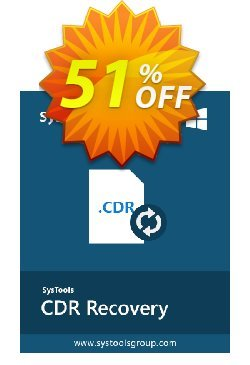 SysTools CDR Recovery Coupon discount SysTools Summer Sale. Promotion: amazing discount code of SysTools CDR Recovery 2021