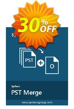 PST Merge - Personal License Coupon, discount SysTools coupon 36906. Promotion: