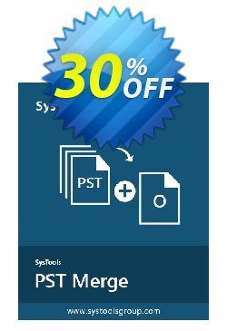 SysTools PST Merge - Business License  Coupon, discount SysTools coupon 36906. Promotion: