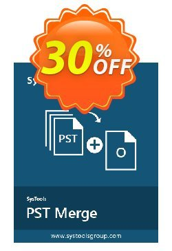 PST Merge - Business License Coupon, discount SysTools coupon 36906. Promotion: