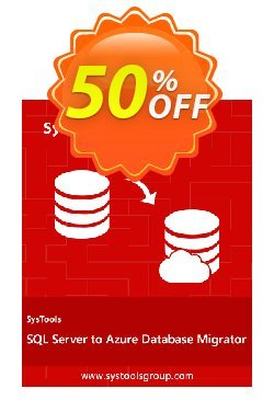 SysTools SQL Server to Azure DB Migrator Coupon, discount SysTools Summer Sale. Promotion: dreaded offer code of SysTools SQL Server to Azure DB Migrator 2020