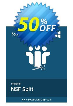 SysTools NSF Split Coupon discount 50% OFF SysTools NSF Split, verified - Awful sales code of SysTools NSF Split, tested & approved