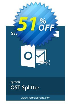 SysTools OST Splitter Coupon discount SysTools Summer Sale. Promotion: dreaded sales code of SysTools OST Splitter 2020
