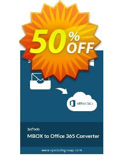 SysTools MBOX to Office 365 Migrator Coupon discount SysTools Summer Sale - imposing sales code of SysTools MBOX to Office 365 Migrator 2020
