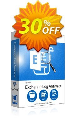 SysTools Exchange Log Analyzer - Site License Coupon discount SysTools Summer Sale. Promotion: big discounts code of SysTools Exchange Log Analyzer - Site License 2020