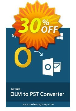 Outlook Mac Exporter - Enterprise License Coupon, discount SysTools coupon 36906. Promotion:
