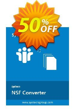 SysTools NSF Converter Coupon discount 50% OFF SysTools NSF Converter, verified - Awful sales code of SysTools NSF Converter, tested & approved