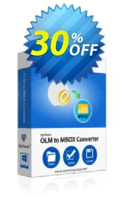 SysTools OLM to MBOX Converter Coupon discount SysTools Summer Sale. Promotion: amazing promotions code of SysTools OLM to MBOX Converter 2020