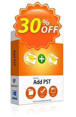 AddPST - Enterprise License Coupon, discount SysTools coupon 36906. Promotion: