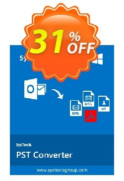 PST Converter - Personal License Coupon, discount SysTools coupon 36906. Promotion: