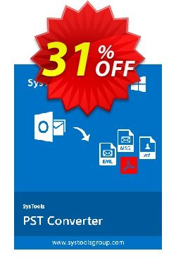 SysTools PST Converter Coupon, discount SysTools PST Converter stunning promo code 2020. Promotion: