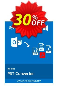 SysTools PST Converter - Business License  Coupon, discount SysTools coupon 36906. Promotion: