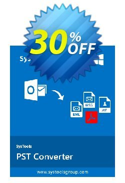 SysTools PST Converter - Enterprise License  Coupon, discount SysTools coupon 36906. Promotion: