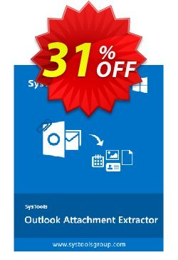 Outlook Attachment Extractor - Personal License Coupon, discount SysTools coupon 36906. Promotion: