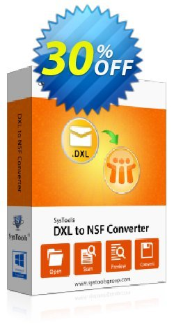 SysTools DXL to NSF Converter Coupon discount SysTools Summer Sale - best promo code of SysTools DXL to NSF Converter 2020