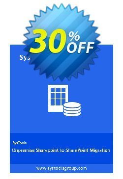 SysTools SharePoint Migration Tool Coupon discount SysTools Summer Sale - exclusive promotions code of SysTools SharePoint Organizer - Site License 2020