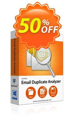 Email Duplicate Analyzer - Business License Coupon, discount SysTools coupon 36906. Promotion: