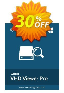 SysTools VHD Viewer Pro Coupon discount SysTools Summer Sale. Promotion: marvelous deals code of SysTools VHD Viewer Pro 2019