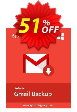 GMail Backup - 2 to 10 Users License Coupon, discount SysTools coupon 36906. Promotion: