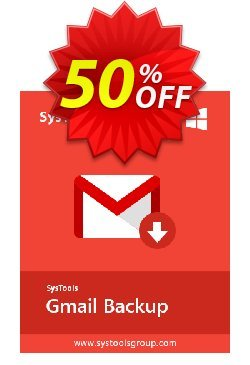 GMail Backup - 51 to 100 Users License Coupon, discount SysTools coupon 36906. Promotion: