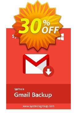 SysTools GMail Backup - 100+ Users  Coupon discount SysTools coupon 36906. Promotion: