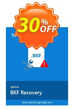 BKF Repair - Personal License Coupon, discount SysTools coupon 36906. Promotion: