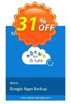 Google Apps Backup - 5 to 10 Users License Coupon, discount SysTools coupon 36906. Promotion: