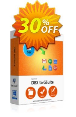 SysTools DBX to G Suite Migrator - Single User License  Coupon, discount SysTools Frozen Winters Sale. Promotion: Awful deals code of SysTools DBX to G Suite - One License 2020