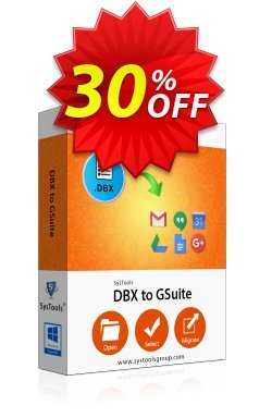 SysTools DBX to G Suite Migrator Coupon discount SysTools Frozen Winters Sale