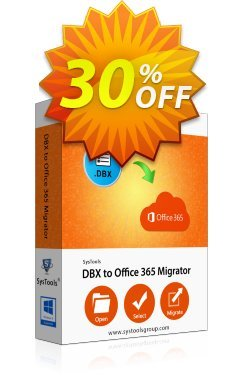 SysTools DBX to Office 365 Migrator Coupon discount SysTools Pre Monsoon Offer - Fearsome promo code of Bundle Office - SysTools DBX Converter + Outlook to Office 365 2020