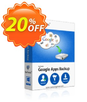 Google Apps Backup - 100 to 200 Users License Coupon, discount SysTools coupon 36906. Promotion: