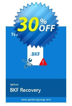SysTools BKF Repair - Business License  Coupon, discount SysTools coupon 36906. Promotion: