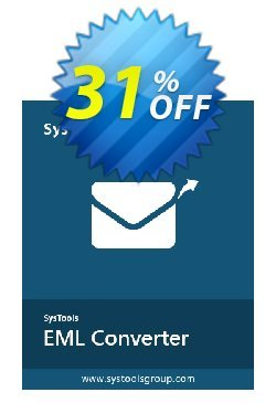 SysTools EML Converter Coupon discount 50% OFF SysTools EML Converter Dec 2020 - Awful sales code of SysTools EML Converter, tested in December 2020