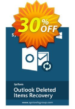 SysTools Outlook Deleted Items Recovery Coupon, discount SysTools Pre Monsoon Offer. Promotion: Wonderful offer code of SysTools Outlook Deleted Items Recovery 2020