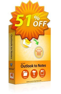 Outlook to Notes - Personal License Coupon, discount SysTools coupon 36906. Promotion: