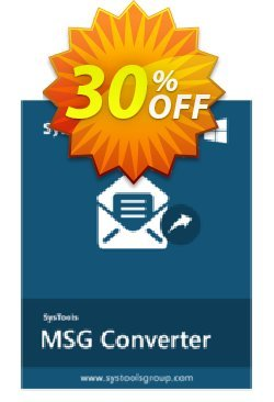 SysTools MSG Converter Coupon discount 30% OFF SysTools MSG Converter, verified - Awful sales code of SysTools MSG Converter, tested & approved