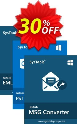 Bundle Offer - SysTools MSG Converter + PST Converter + EML Converter Coupon, discount SysTools Pre-Summer Offer. Promotion: Awesome sales code of Bundle Offer - SysTools MSG Converter + PST Converter + EML Converter 2020
